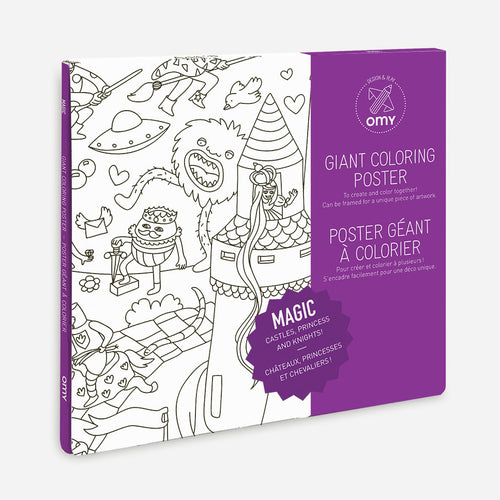 zigzag-and-zebra - Giant Colouring Poster (Magic)- Omy - Zigzag and Zebra - Toy