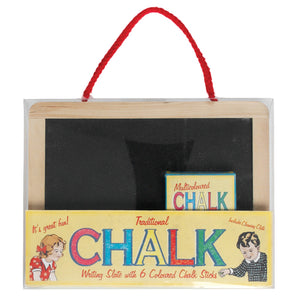 Mini Blackboard with 6 chalks - Zigzag and Zebra