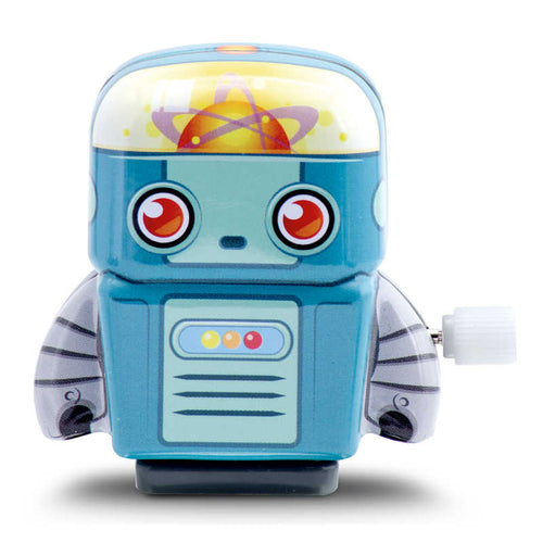 Mini Tin Robot Light Blue - Zigzag and Zebra