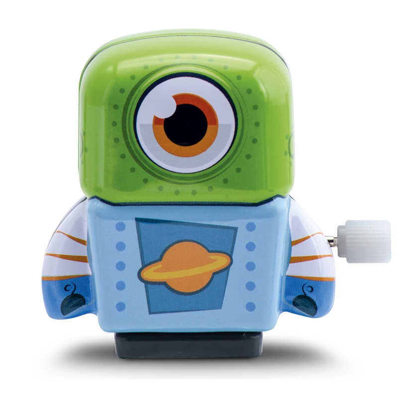 Mini Tin Robot Blue Green