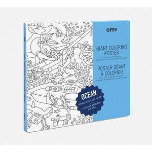 Giant Colouring Poster (Ocean)- Omy - Zigzag and Zebra