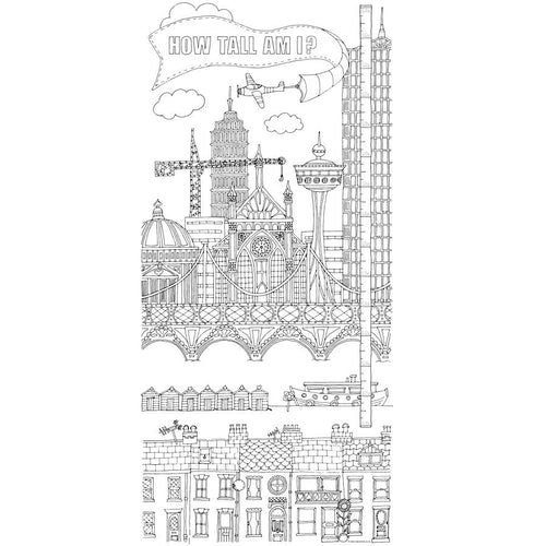 Large Colour-In Height Chart- Claire Close - Zigzag and Zebra