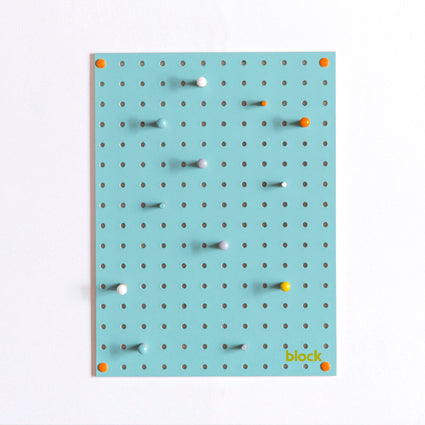 Light Blue Pegboard With Wooden Pegs (Small)- Block - Zigzag and Zebra