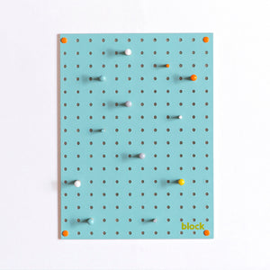 zigzag-and-zebra - Light Blue Pegboard With Wooden Pegs (Small)- Block - Zigzag and Zebra - Home accessories
