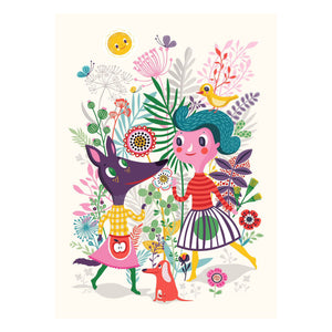 Sweet Fox Poster- Petit Monkey - Zigzag and Zebra