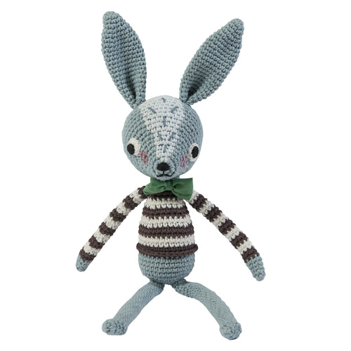 Crochet Robert Rabbit- Sebra - Zigzag and Zebra