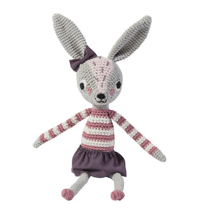 Crochet Roberta Rabbit- Sebra - Zigzag and Zebra