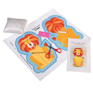 Sew Your Own Lion Kit - Zigzag and Zebra