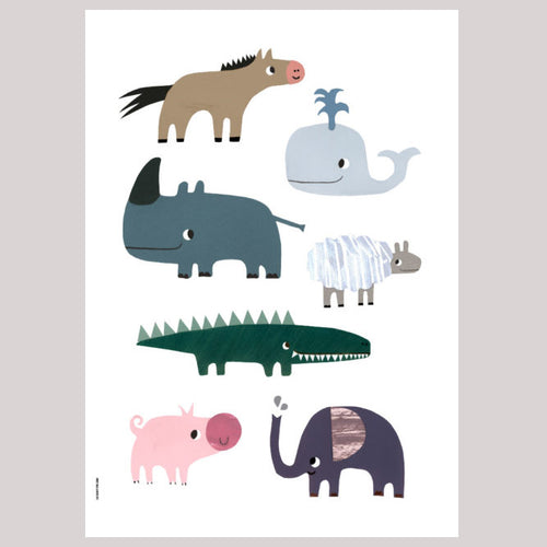zigzag-and-zebra - Smiling Friends A3- I Love My Type - Zigzag and Zebra - Wall Print