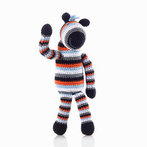 Stripy Zebra Rattle- Pebble - Zigzag and Zebra