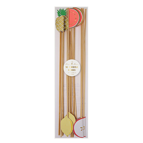 Fruit Swizzle Sticks- Meri Meri - Zigzag and Zebra