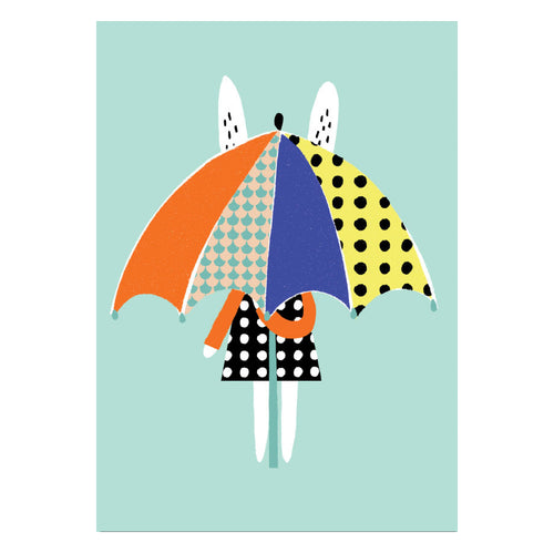 zigzag-and-zebra - A3 Umbrella Print- Becky Baur - Zigzag and Zebra - Wall Print