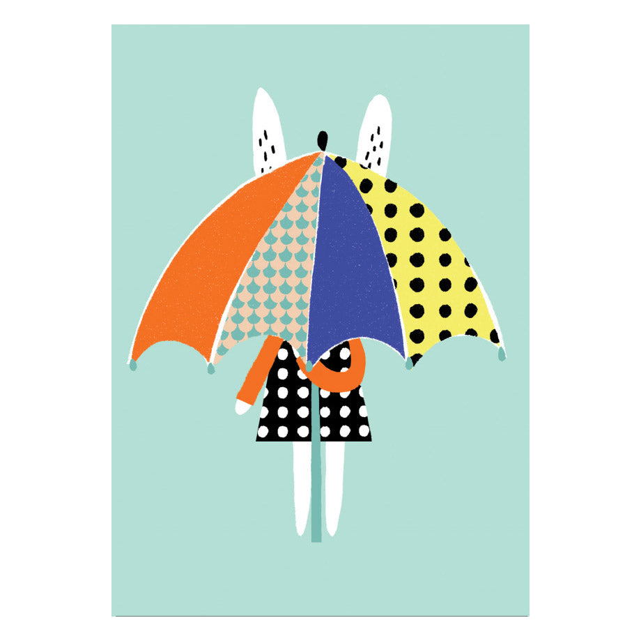 A3 Umbrella Print- Becky Baur - Zigzag and Zebra