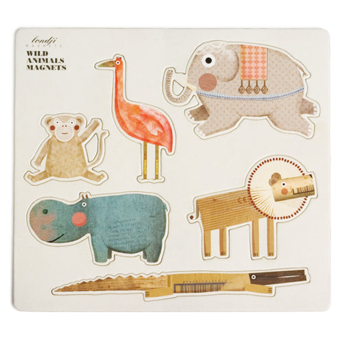 Set of 6 Wild Animal Magnets- Londji - Zigzag and Zebra