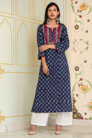 Patchwork Indigo Tunic - A Tailor's Tale