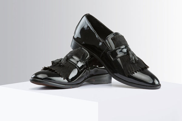 Black Patent Slip-Ons With Tassel - A Tailor's Tale