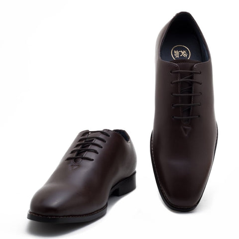 Angeles Oxford Lace Ups - Brown - A Tailor's Tale