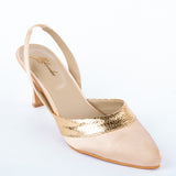 BEIGE AND GOLD HEELS - A Tailor's Tale