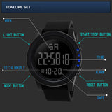 Large Dial LED Digital Men's Watch from Focus Tactical - Features