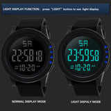 Large Dial LED Digital Men's Watch from Focus Tactical - Illumination