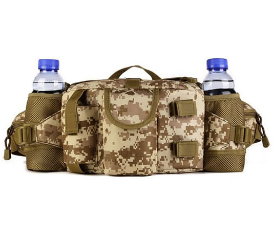 Focus Tactical 3-Way Outdoor Hydration Waist Pack - SM Camo