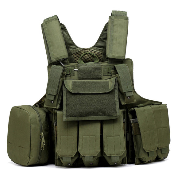 Multi-Compartment Tactical Vest from Focus Tactical - Army Green