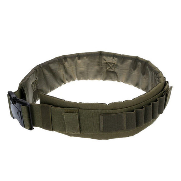 Focus Tactical Padded Hunting Ammunition Belt - Army Green
