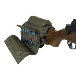 Rifle Stock Cheek Rest With Ammo Carrier Case