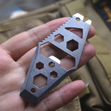 Pocket Size Multifunction EDC Tool from Focus Tactical - Sizing