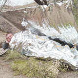 10-Piece Portable Outdoor Emergency Blankets from Focus Tactical - Usage