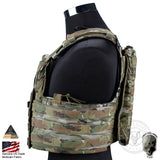 IDoutDoor Molle Hunting Airsoft Padded Vest from Focus Tactical - Side View