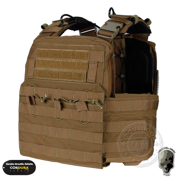 IDoutDoor Molle Hunting Airsoft Padded Vest from Focus Tactical - Coyote Brown