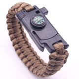 Outdoor 6-in1 Paracord Survival Bracelet from Focus Tactical - Sand