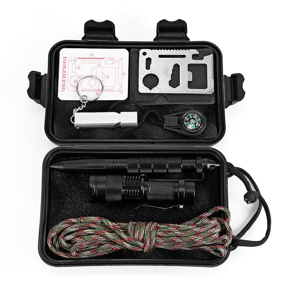 7-Piece Multifunction Emergency Survival Kit from Focus Tactical