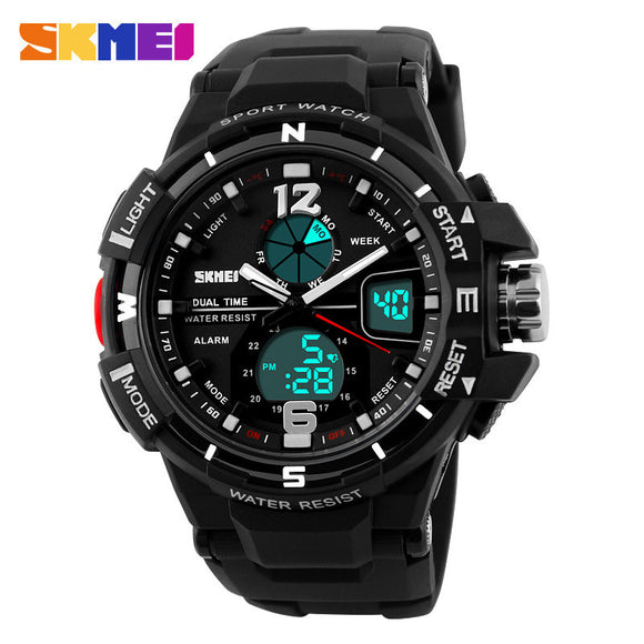 SKMEI Analog & Digital Men's Sport Quartz Wristwatch from Focus Tactical