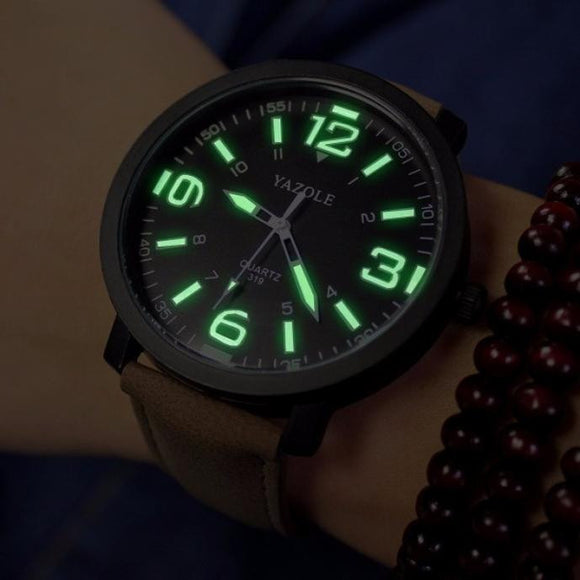Simple Military Styled Mens Quartz Wrist Watch from Focus Tactical