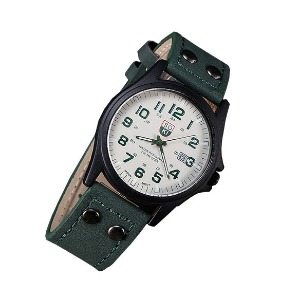 Military Style Belt Tooled Quartz Watch from Focus Tactical.