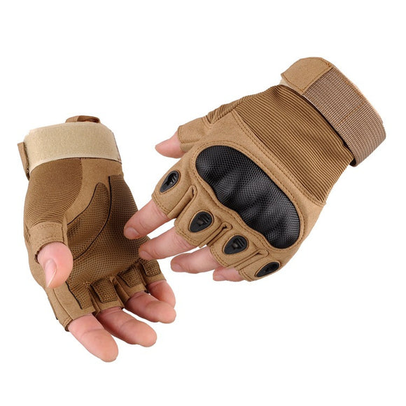 Multifunctional Anti-Skid Fingerless Gloves - Front / Back View