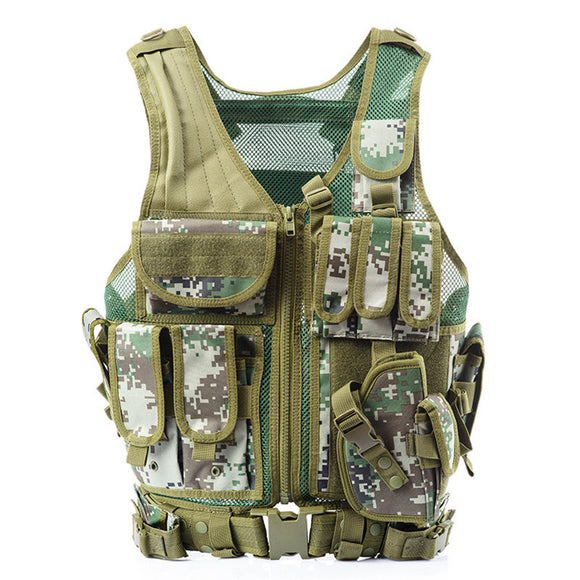 Tactical Hunting Vest from Focus Tactical - Digital Camo