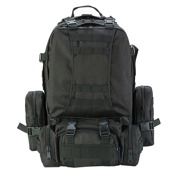 Black - Military 50L Tactical Backpack
