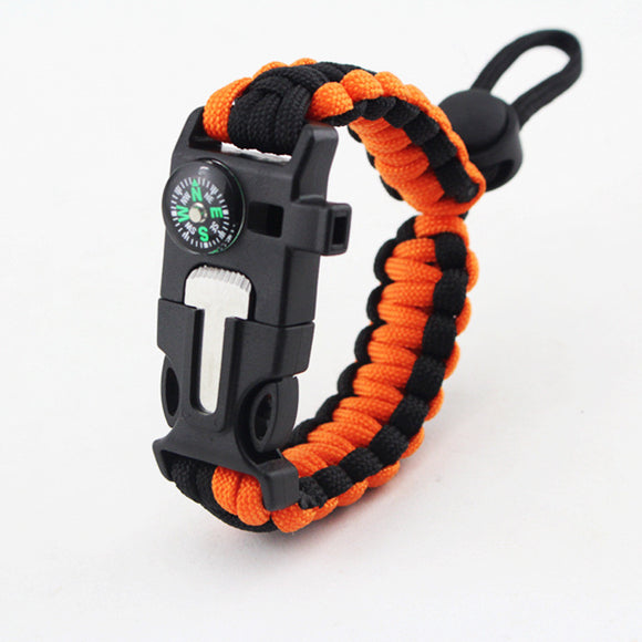 Focus Tactical adjustable tactical survival bracelet - Orange