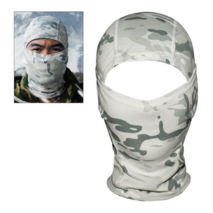 Camouflage Full Face Mask Helmet Liner from Focus Tactical - Snowfield Camo