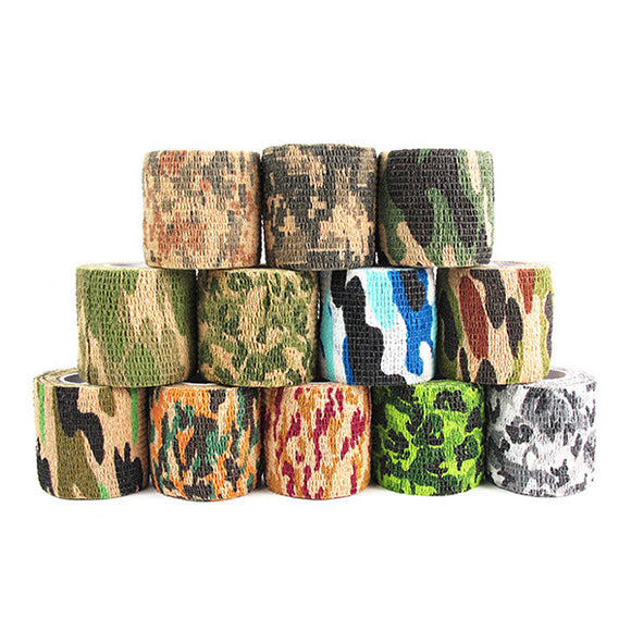 Camouflage Stretch Bandage - Assorted Color 12-Pack