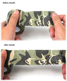 Camouflage Stretch Bandage - Stretch (Before/After)