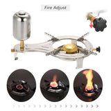 Focus Tactical Outdoor Liquid Alcohol Cooking Stove - Fire Power Adjustor