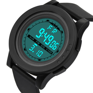 Men's Sport Water Resistant Wristwatch from Focus Tactical - Black