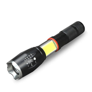 T6+COB Zoomable 5-Mode LED Flashlight from Focus Tactical - Hidden COB