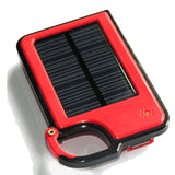 Smartphone Clip-On Solar Charger - Red