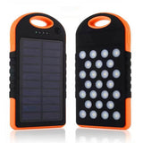 Portable 10,000 mAh Solar Power Bank from Focus Tactical - Orange