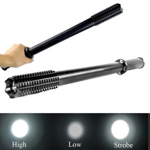 Focus Tactical 3-Mode LED Spiked Mace Self-Defense Flashlight Stick - Light Modes